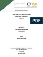 trabajo colaborativo 1 procesos de manufactura unad