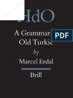 A Grammar of Old Turkic