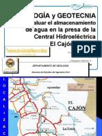 Geología y Geotecnia Para Evaluar El Almacenamiento de Agua en La Central Hidroeléctrica El Cajón, Nayarit