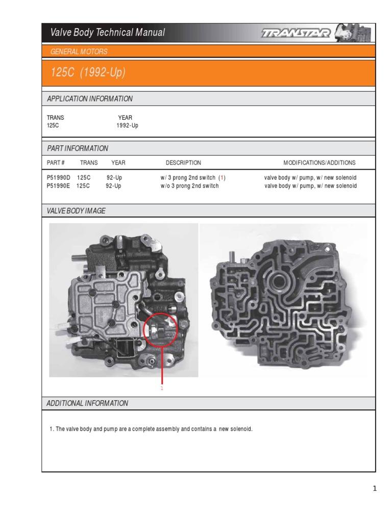4r70w Manual Valve Body Manual Guide