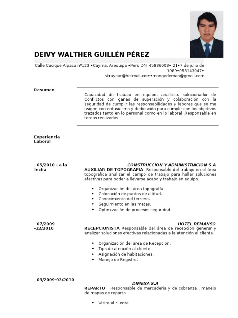 Encantador Plantilla De Cv Banco Cajero Regalo - Colección De ...