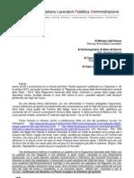 Lettera Unilpa Contro Gli Sprechi Dell'Aministrazione Pubblica