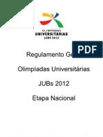 Regulamento Geral Jogos Universitarios 2012