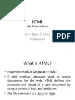 3 HTML