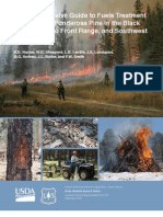 A Comprehensive Guide to Fuels Treatment Practices for Ponderosa Pine in the Black Hills. Colorado Front Range, and Southwest
