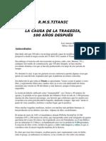 TITANIC 100 AÑOS DESPUES Jose-Reyero