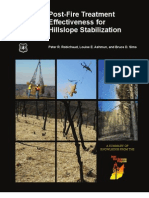 Post-Fire Treatment Effectiveness for Hillslope Stabilization