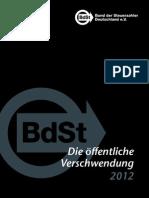 Die öffentliche Verschwendung Schwarzbuch 2012