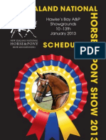 National Horse & Pony Show Schedule 2013