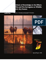 Effects of Fire and Fire Surrogates on Wildlife in U.S. Dry Forests