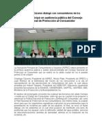 NOTA DE PRENSA. Código del Consumidor. Audiencia descentralizada CNPC (25.10.12)