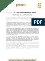 CARE Y ORAS – CONHU FIRMAN CONVENIO PARA TRABAJO COORDINADO EN LA SUBREGIÓN ANDINA