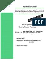 M06 - détermination des dimensions des surfaces et des volumes BTP-TDB 01