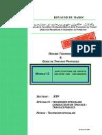 M12-Application du  Dessin asisté par ordinateur BTP-TSCT