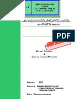 M13-Réalisation des essais en laboratoir et in  situ des sol BTP-TSCT