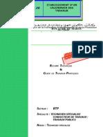 M20- Etablissement d'Un Calendrier Des Travaux BTP-TSCT