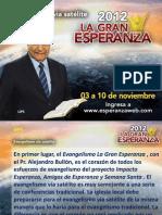 Evangelismo via Satelite 2012