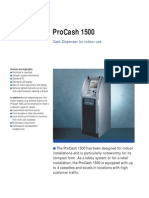 Wincor ProCash 1500 Technical Data