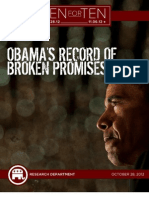 Obama's Record Of Broken Promises
