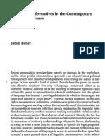 Judith Butler - Performativos Soberanos en la Escena de Emisión Contemporánea
