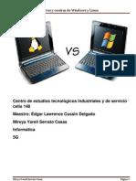 Pros y Contras Windows y Linux