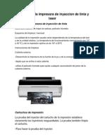 Limpieza de La Impresora de Inyeccion de Tinta y Laser