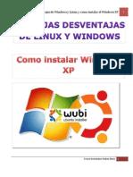 Ventajas y Desventajas de Linux y Windows XP