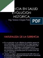 Gerencia Evolucion Historica 2011 1 Clase