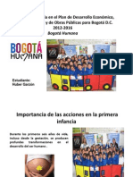Bogota Humana y Primera Infancia