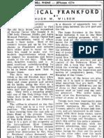 History of Frankford by Hugh M Wilson