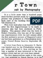 Robert Cornelius – First Photographic Portrait