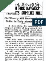 Waverly Mills Fire 1939