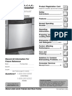 Dish Washer Users Manuel 154575401
