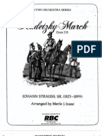Radetzky March J. Strauss Arr. M. Isaac Partitura