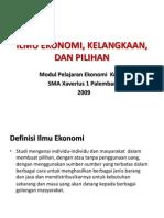Pembelajaran Ekonomi Kelas X