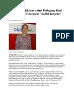 JOKOWI Bangun Mal Khusus Untuk Pedagang Kaki Lima