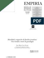 Movilidad y migracion en familias jornaleras. Mirada desde genealogías - Sara Lara