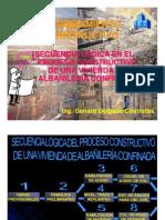 PROCEDIMIENTO CONSTRUCTIVO DE UNA VIVIENDA DE ALBAÑILERIA CONFINADA -  ING. GENARO DELGADO C.