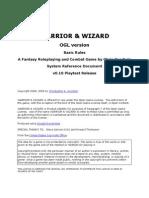 WARRIOR & WIZARD - Basic Rules - OGL