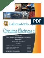 Lab. N° 2 - Circ. Elec. II - Potencia y Factor de Potencia En Circuitos Monofásicos