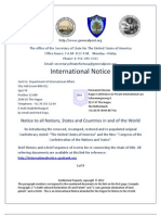 International Notice to the Hague