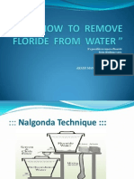 How to Remove Floride From Water