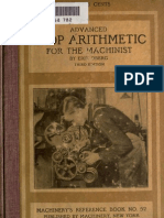 Arithmetic, Advanced Shop - E. Oberg 1912