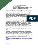Almunia (2012) Email to Ann Green