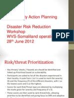 Community Action Planning - Prioritization