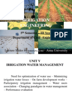 Irrigation Engineering Unit V