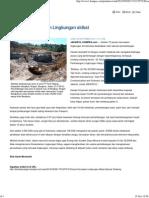 70 Persen Kerusakan Lingkungan Akibat Operasi Tambang