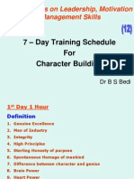 7 Days Trg. Schedule