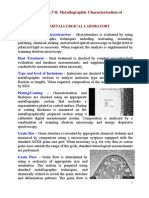 AA Lecture Series 2a L7 8 Materials Characterisation Metallography