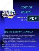 Cost of Capital Shiddiq